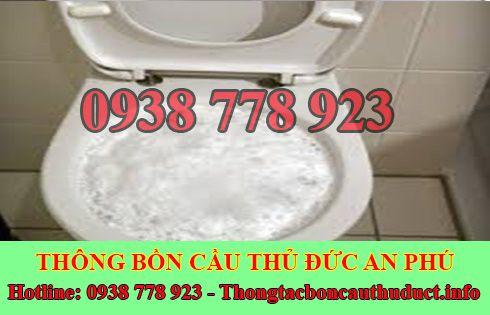 Thông bồn cầu bị nghẹt giấy Quận Thủ Đức giá rẻ 0938778923