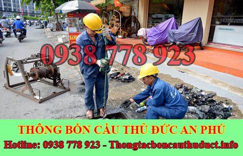 Quy trình nạo vét hố ga cống rãnh giá rẻ Quận Thủ Đức An Phú.