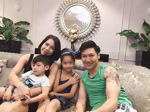 diễn viên Mạnh Trường và vợ